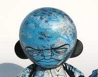 "Blue Cross - Custom 4"" munny"