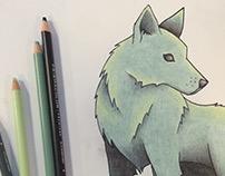 Winter Dusk Wolf