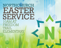 North Church - Easter Post Card
