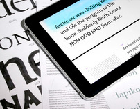 Hoptype iPad typeface