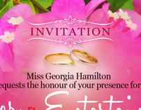 Post Wedding Dinner Invitation