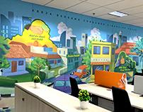 Wall Decals - Bank Mandiri Syariah Jakarta