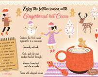 a festive hot chocolate