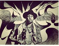 d'angelo black messiah illustration portrait design
