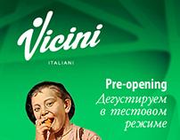 Advertisement for Italin restaurant