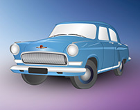 Gaz Volga 21 Illustration