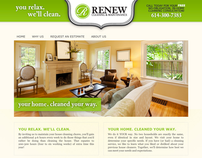 Renew Cleaning and Maintenance - Website Design