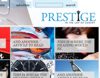 Magazine Website: Prestige Magazine