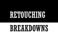 Retouching breakdowns
