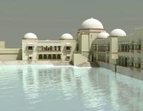 Hauz Khas Complex modeling & rendering for DesignRoute