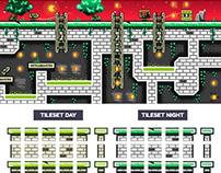 """Platformer Game Tile Set """"Abandoned Castle"""""""