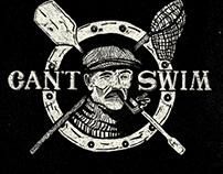 """Can't Swim"" merch line"