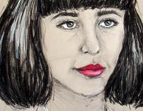 Kimbra Charcoal Illustration