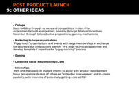 POST LAUNCH - IDEAS (9c of 9)