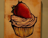 Paintings for Phoebes Cupcakes, in Chicago, IL