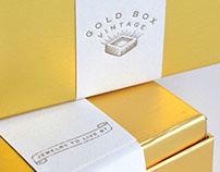 Gold Box Vintage Logo and Label