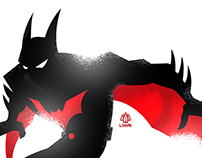 Batman Beyond Minimalist Splash Poster