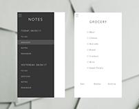 Daily UI #065 : Notes Widget