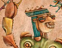 Ilustración. Mitos peruanos para Libro Ruta viva (PERÚ)