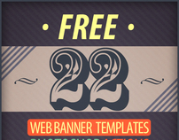 Free 22 Web Banner Photoshop Action Templates