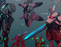 Character design for upcoming cyberpunk game