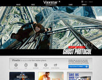 Vaxstar Entertainment Portal Website