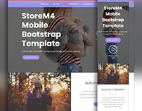 Mobirise v4.3.5 - StoreM4 eCommerce Website Template!