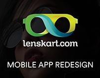 Lenskart Mobile App Redesign (Design, UX tweaks)
