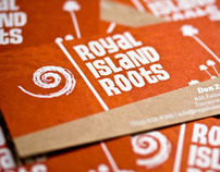 Royal Island Roots identity and business cards