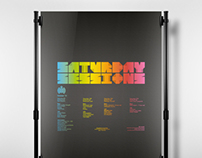 Ministry of Sound D&AD Typographic Posters.
