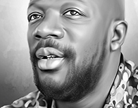 Isaac Hayes Digital Oil Painting
