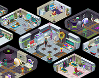 Rooms and Objects // Galactic Xpress!