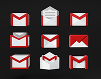 Gmail 3D icons