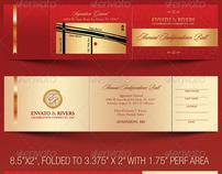 Folded Banquet Ticket Template On Behance  Banquet Ticket Template
