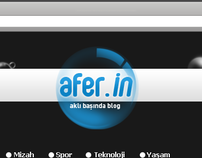 Afer.in Blog Design