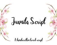 Juanita Brush Script - a handwritten brush script font