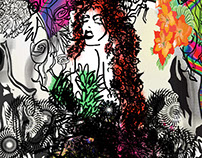 Poison Ivy abstract Art