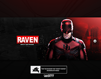 "Twitter header for ""Oddity Raven"""