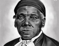 Harriet Tubman painted in Adobe Fresco