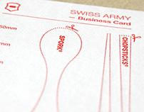 Swiss Army Business Card