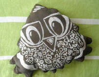 BATIK printing - mustard seeds pillow