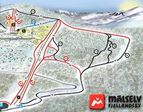 Infografika. Mapa stoku narciarskiego w Norwegii.