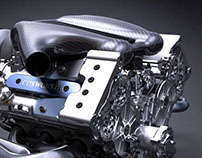 V8 Formula One Engine Concept Visualisation