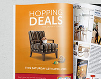 Courts: Easter Hopping Deals Print Ad