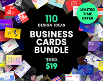 110 in 1 Business Card Design Templates Bundle