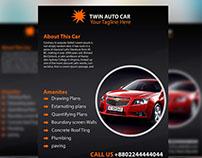 Auto Car Flyer Design