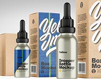Metallic Dropper Bottle w/ Kraft Box