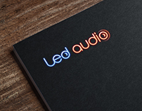 Ledaudio logo design