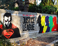 Justice League Graffiti