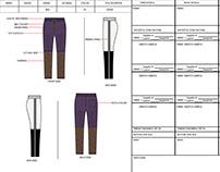 Tech pack sample of Jog Pants